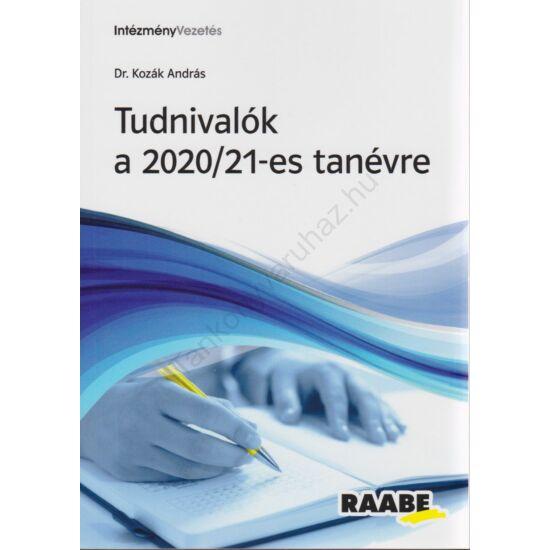 Tudnivalók a 2020/21-es tanévre