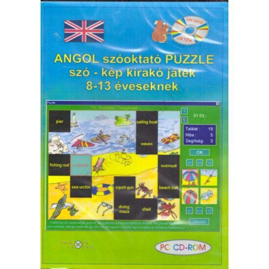 Angol szóoktató Puzzle szó - kép kirakó játék 8 - 13 éveseknek