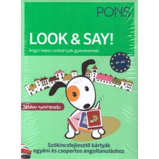 Look&Say Angol képes szókártyák gyerekeknek