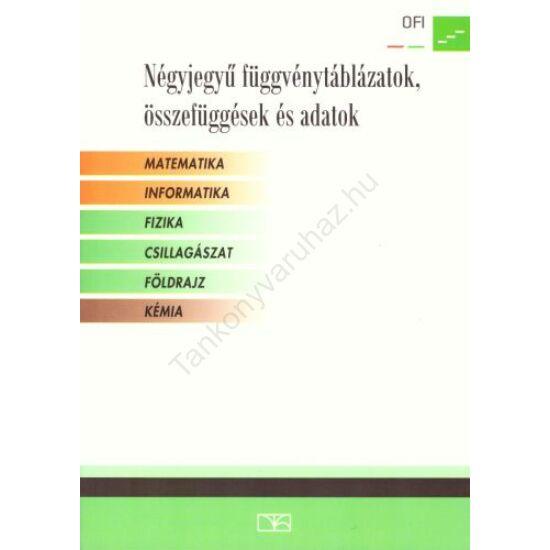 Négyjegyű függvénytáblázatok, összefüggések és adatok (NT-16129/NAT)