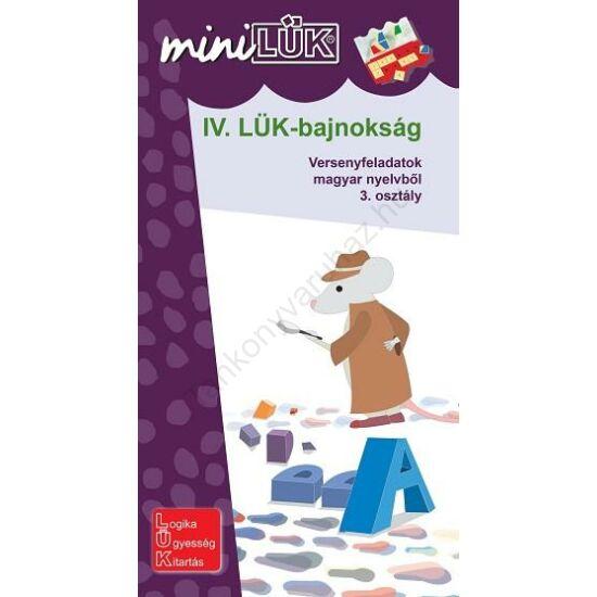 IV. LÜK-bajnokság Versenyfeladatok magyar nyelvből 3. osztály