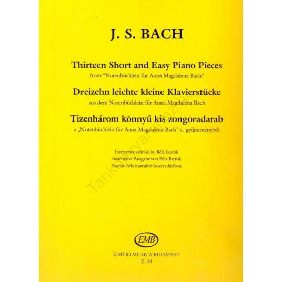 Bach, Johann Sebastian: Tizenhárom könnyű kis zongoradarab