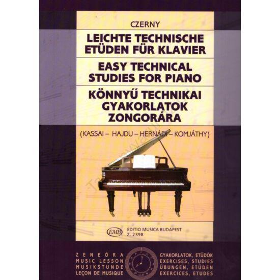 Czerny, Carl:Könnyű technikai gyakorlatok zongorára