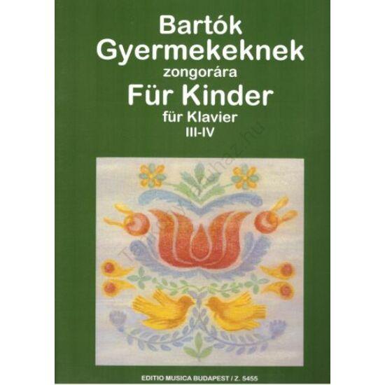 Bartók Béla: Gyermekeknek III-IV.