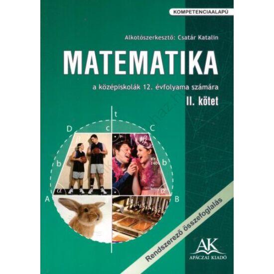 Matematika 12. II. kötet (AP-120803)