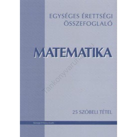 Matematika-25 szóbeli tétel