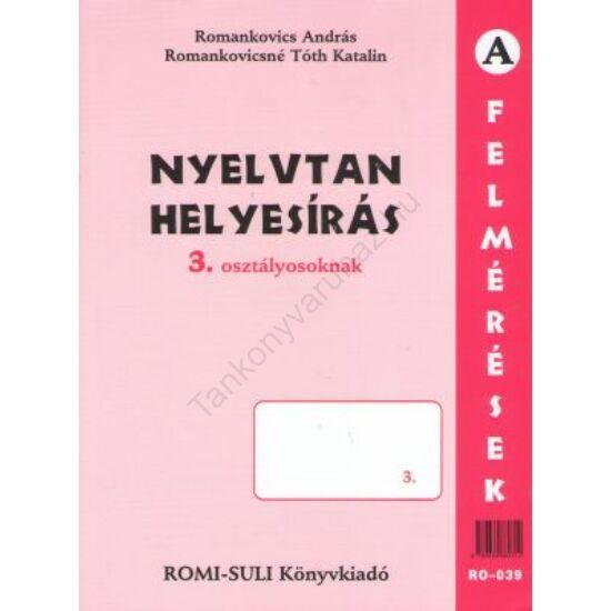 Nyelvtan, helyesírás (RO-039) 3. osztály