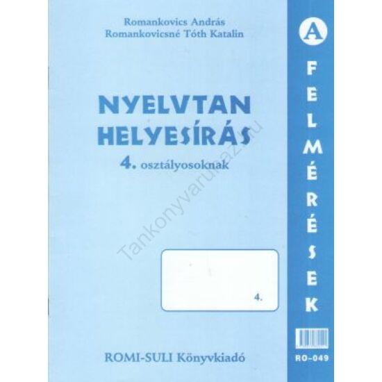 Nyelvtan, helyesírás (RO-049) 4. osztály